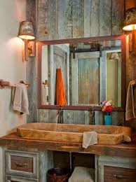 Rustic Bathroom Lighting Ideas Bathroom Modern Rustic Bathroom White Rustic Sink Cabinet