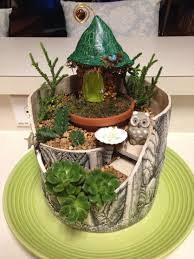 fairy garden from a broken pot fairy gardens pinterest