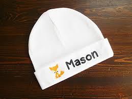 personalized baby hat newborn baby beanie handmade