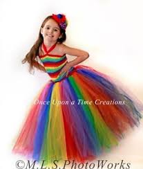 5t Halloween Costumes Circus Clown Rainbow Girls Tutu Dress 12m 2t 3t 4t 5t Halloween