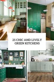 what color goes with green cabinets 25 chic and lively green kitchens shelterness