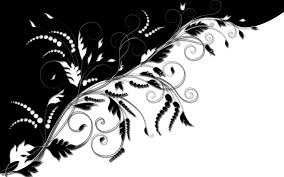 clip images black and white ornaments