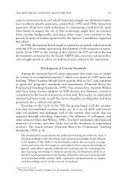 Reflective Writing Sample Essay 3 The Historical Context And Overview Of The National Board