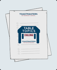 Table Topics Toastmasters Toastmasters International On Demand