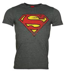 s charcoal distressed superman logo t shirt
