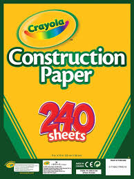 buy crayola 240 sheet construction paper online at low prices in