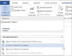 Change Table Style Word Format Or Customize A Table Of Contents Word