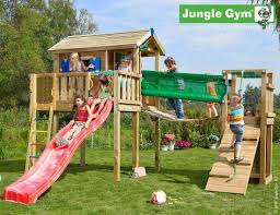 outdoor wooden climbing frames playhouse xl bridge
