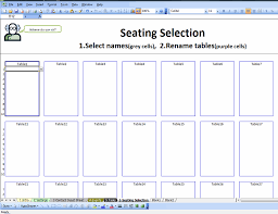 Free Wedding Seating Chart Template Excel Excel Spreadsheets Help May 2014