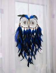 large owl dream catcher home decor accessories unique design