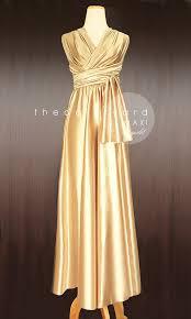 maxi gold bridesmaid dress convertible dress infinity dress