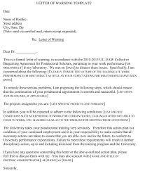 warning letter templates 20 sample u0026 formats for hr warnings