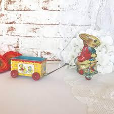 antique easter decorations sweet antique easter bunny rabbit cart tin litho vintage j