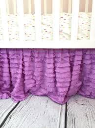 purple crib skirt ruffle crib skirt lilac dust ruffle crib
