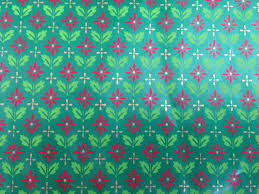green christmas wrapping paper vintage christmas gift wrapping paper small print christmas