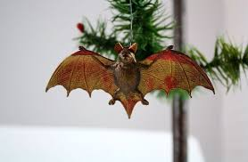 antique dresden bat ornament curiosity