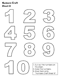 printable numbers simple numbers 1 10 coloring pages coloring