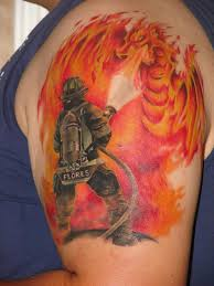 firefighter tattoos view more tattoos pictures under dragon