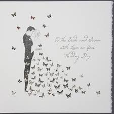 Groom To Bride Card To The Bride And Groom Wedding Day Large Handmade Wedding Card