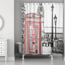 Red White Shower Curtain Buy Black And Red Curtains From Bed Bath U0026 Beyond