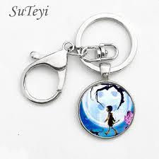 anime movie coraline keychain coraline pendant key ring jewelry