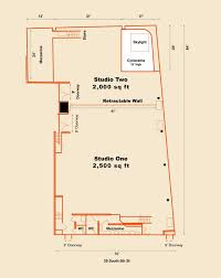 500 Sq Ft Studio Floor Plans by Event Spaces