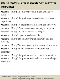 Administrative Resume Examples by Top 8 Research Administrator Resume Samples