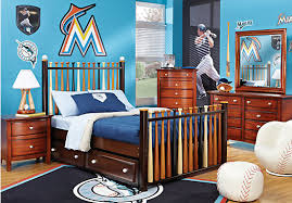 Batter Up Cherry  Pc Twin Slat Bedroom Bedroom Sets Dark Wood - Rooms to go kids bedroom