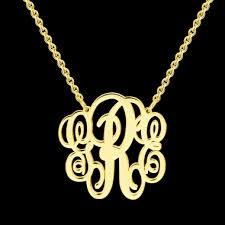 monogram necklaces silver monogram necklaces necklaces
