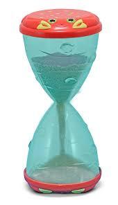 amazon com melissa u0026 doug sunny patch clicker crab hourglass sand