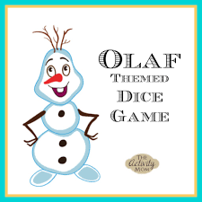 themed writing paper free printable olaf dice game free printable olaf dice game
