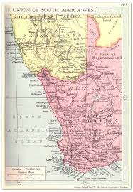 Map South Africa South Africa Union West Map 1935 Philatelic Database
