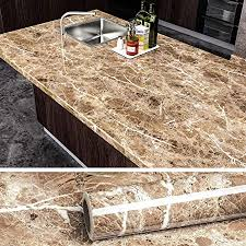 what to put on top of kitchen wall cabinets veelike faux marble counter top covers peel and stick wallpaper granite contact paper decorative kitchen wall paper brown waterproof self adhesive