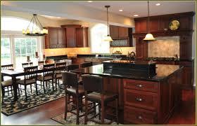 cherry kitchen cabinets black granite home designs kaajmaaja