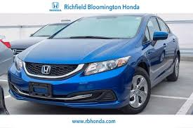 2014 used honda civic sedan 4dr manual lx at richfield bloomington