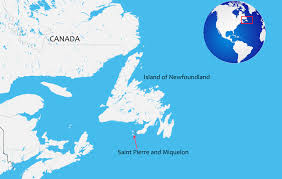 map of st and miquelon st and miquelon the last colony in america