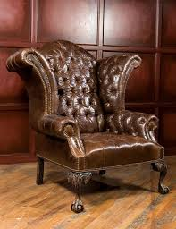 Leather Wingback Chair With Ottoman Design Ideas Chair Design Ideas Wingback Leather Chair And Ottoman Wingback