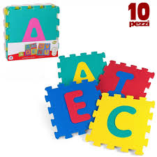 tappeto puzzle disney tappeto tappetino puzzle lettere 10 pezzi morbido dimensione