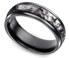 mens wedding bands that don t scratch men s wedding ring black hammered titanium looks cool and you