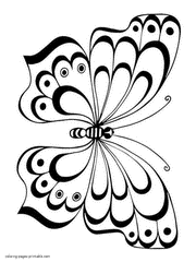 coloring pages for kids butterflies printable funny photo
