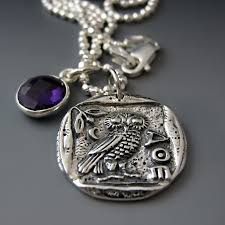 silver coin necklace pendants images Greek coin necklace athena owl pendant jpg