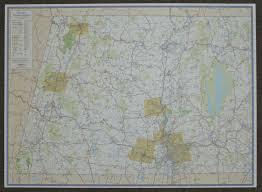 Western Massachusetts Map by Berkshire County Ma Paper Wall Map Jimapco