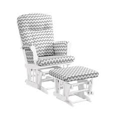 glider and ottoman cushions amazon com angel line monterey glider ottoman white with gray