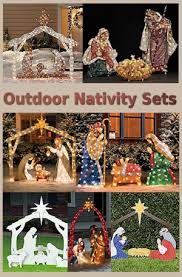 nativity outdoor outdoor nativity sets christmas decorating