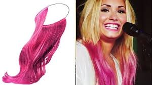 demi lovato hair extensions demi lovato s pink hair extension headband is for