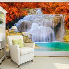 compare prices on waterfall bedroom wall online shopping buy low 3d wallpaper custom mural non woven waterfall landscape photography background mural living room bedroom 3d
