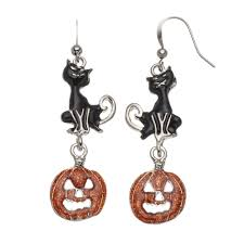 halloween jewelry cat u0026 jack o u0027 lantern halloween earrings