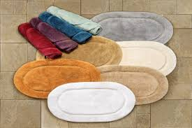Cotton Bathroom Rugs Bed Bath Oval Multicolor Cotton Bathroom Rug Sets For
