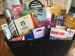 college gift baskets the gift for grads a college survival kit complete with a