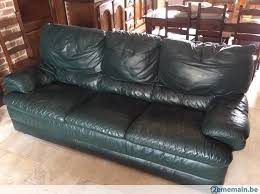 divan canapé divan canapé 3 places en cuir a vendre 2ememain be